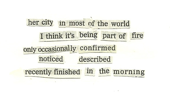 collage poem: her city in most of the world