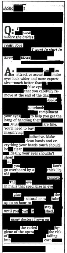 blackout advice column