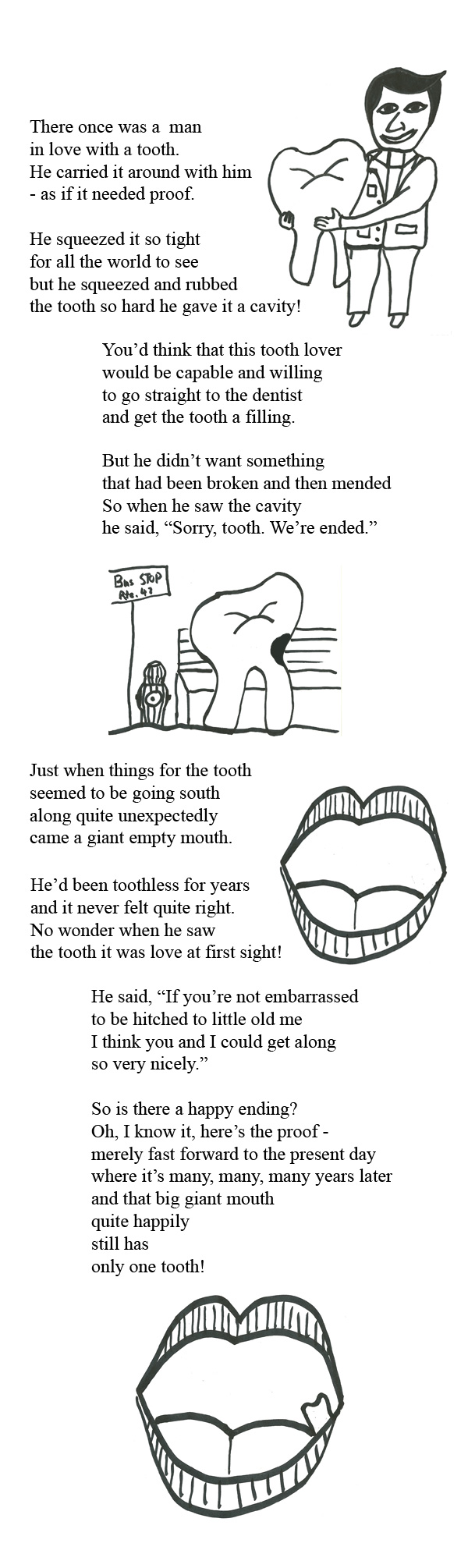 children's poem: The Man Who Fell in Love With a Tooth