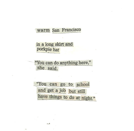 collage poem: things to do at night