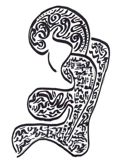 asemic figure